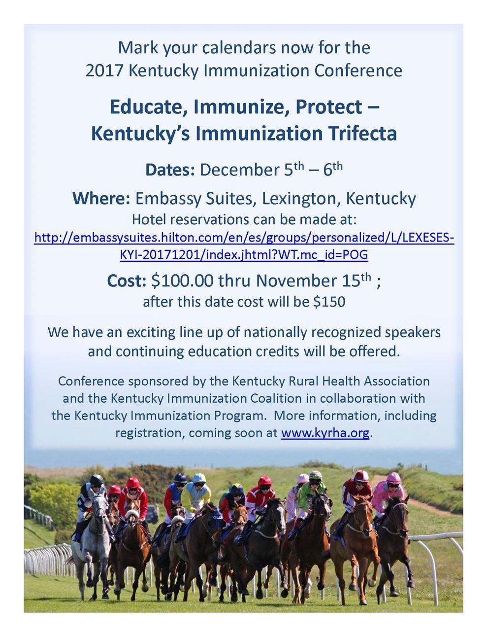 Kentucky Rural Health Association - 2017 Immunization Conference